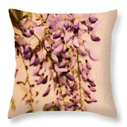 Watercolor Wisteria Throw Pillow
