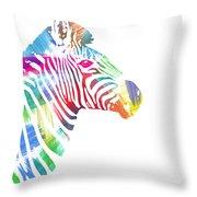 Watercolor Zebra Throw Pillow