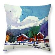 Watercolor_3483 Throw Pillow