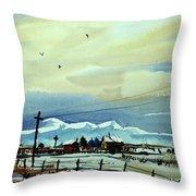 Watercolor_3487 Throw Pillow