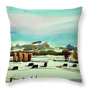 Watercolor_3514 Throw Pillow
