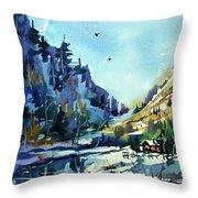 Watercolor3810 Throw Pillow