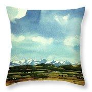 Watercolor4014 Throw Pillow