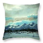 Watercolor4018 Throw Pillow