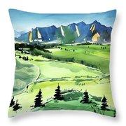 Watercolor4509 Throw Pillow
