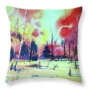 Watercolor4632 Throw Pillow