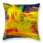 Watercolour Abstract Throw Pillow