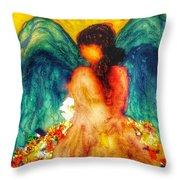Watercolour Angel Throw Pillow
