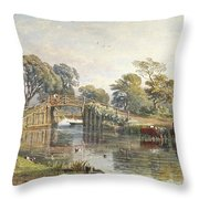 Watercolour Heightened With White Throw Pillow