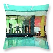 Watercolour Painting Of Relaxation On Holiday Throw Pillow