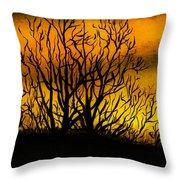 Watercolour Sunset Throw Pillow