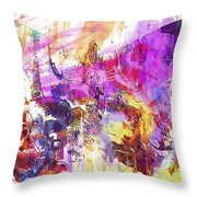 Watercolour Watercolor Paint Ink  Throw Pillow