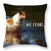 Waterdog Quote Throw Pillow
