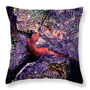 Waterdrop Abstract Throw Pillow