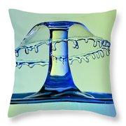 Waterdrop Collision 3 Throw Pillow