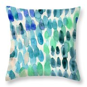 Waterfall 2- Abstract Art By Linda Woods Throw Pillow