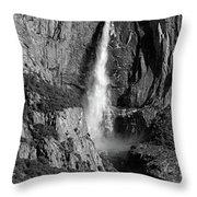 Waterfall 2 Bw Throw Pillow
