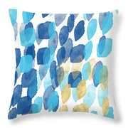 Waterfall- Abstract Art By Linda Woods Throw Pillow