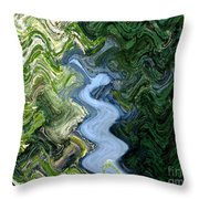 Waterfall Abstract Throw Pillow