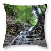 Waterfall And Natural Gas Throw Pillow