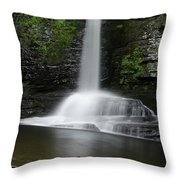 Waterfall At Childs Park Pa Throw Pillow