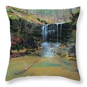 Waterfall At Don Robinson State Park 1 Throw Pillow