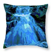 Waterfall At Finch 2 Throw Pillow