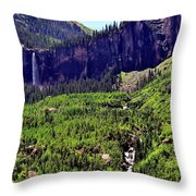 Waterfall At Telluride, Colorado Throw Pillow