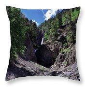 Waterfall At Yankee Boy Basin Throw Pillow