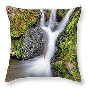 Waterfall Atop Wolf Creek Pass - Colorado - Nature Throw Pillow