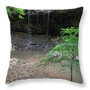 Waterfall Base Throw Pillow
