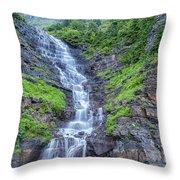 Waterfall Below The Garden Wall Throw Pillow