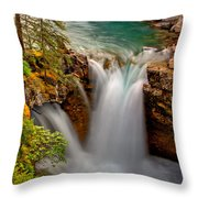 Waterfall Canyon Throw Pillow