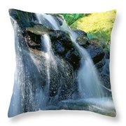 Waterfall Close-up Throw Pillow