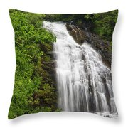 Waterfall Closeup Throw Pillow
