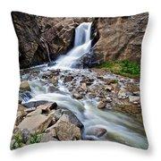 Boulder Falls Throw Pillow