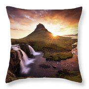 Waterfall Fantasy Throw Pillow