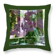Waterfall Floral Throw Pillow