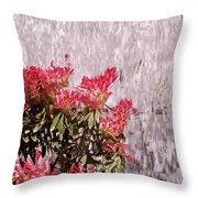 Waterfall Flowers Throw Pillow