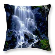 Waterfall Flowing And Ebbing Throw Pillow