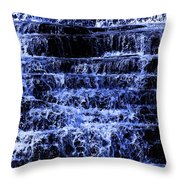 Waterfall In Blue Throw Pillow