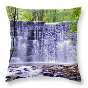 Waterfall In Gladwyne Throw Pillow