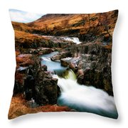 Waterfall In Glencoe Throw Pillow