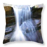 Waterfall In Nh Throw Pillow