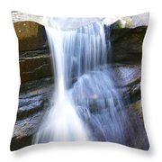 Waterfall In Nh Throw Pillow