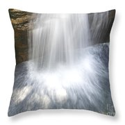 Waterfall In Nh Splash 3 Throw Pillow