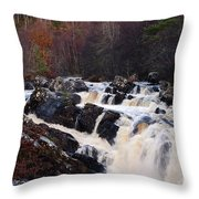 Waterfall In Scotland Throw Pillow