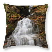 Waterfall In Smugglers Notch Throw Pillow