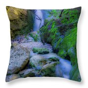 Waterfall In Soft Dream. Throw Pillow