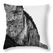 waterfall in Switzerland Throw Pillow
